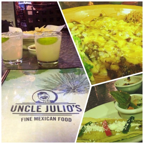 margaritas, tamales and cheese enchiladas (emphasis on CHEESE!)