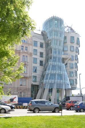 close up of the Dancing House