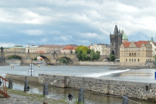 Charles Bridge over Vltava River