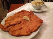 schnitzel and potato salad