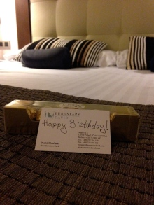 hotel room birthday surprise