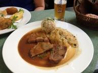 pork, sauerkraut and dumplings