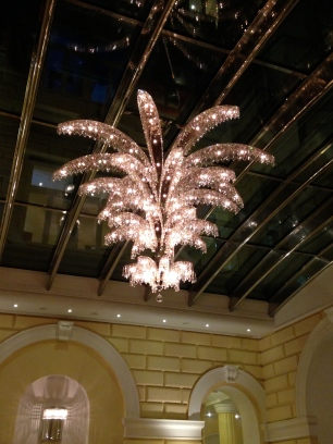 hotel bar chandelier