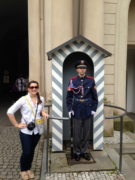 with the Prague Castle guard