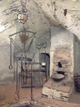 torture chamber in a medieval dungeon