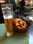 beer and pretzels :)