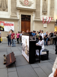 street musician with a full piano!