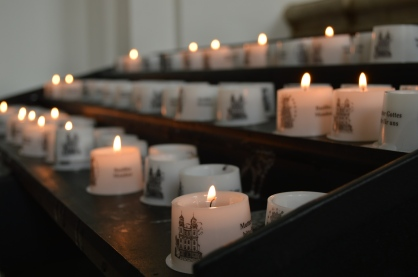 candles in Mondsee Abbey