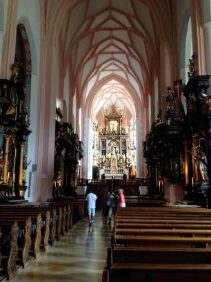inside Mondsee Abbey