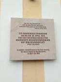 plaque in a square where book burning took place