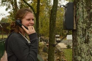 Kealy on the random outside phone