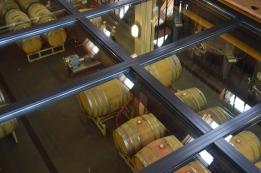 Blenheim Vineyards - looking through the glass floor