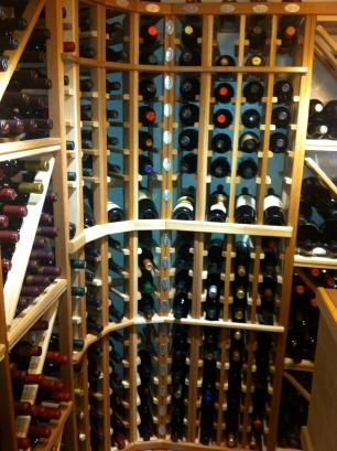 Ron's wine cellar