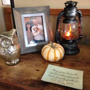 fall decor pumpkin owl lantern