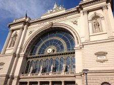 front of Budapest train station