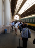 inside Budapest train station