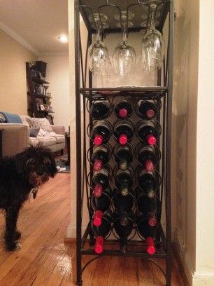 our wine collection - hi, Jackie!