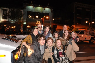group pic in front of our limo