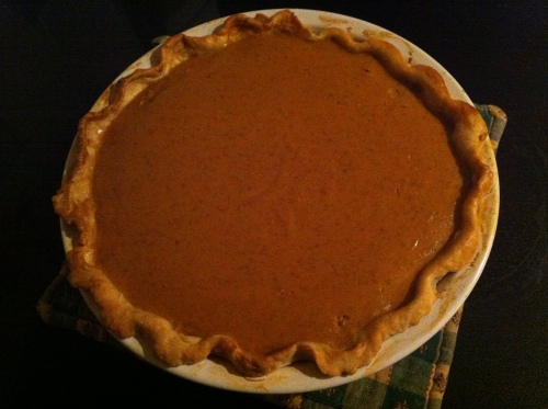 my first pie - pumpkin!