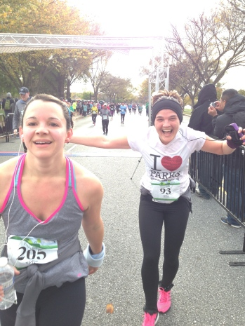 smiles crossing the finish line
