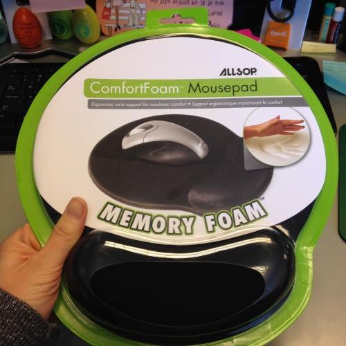 memory foam mouse pad wrist rest