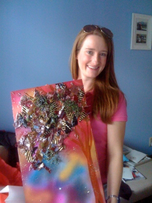 Alycyn with her Eastern Market purchase