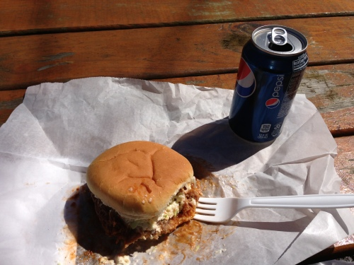best part of Maple Fest - the maple BBQ sandwich