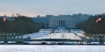 snow on the National Mall