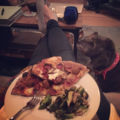 some favorites: pizza, wine and Jackie